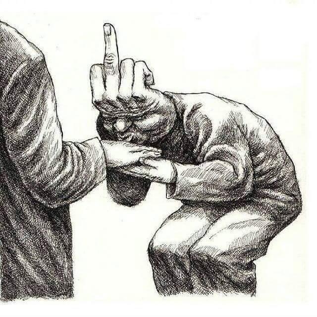 Handkuss eines Heuchlers